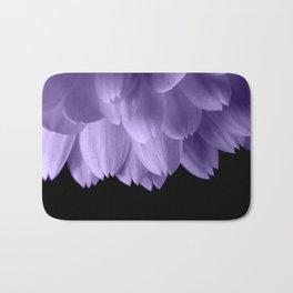Ultra violet purple flower petals black Bath Mat