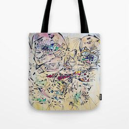 Face in lines Tote Bag