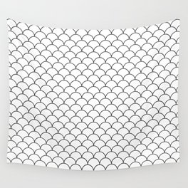 Black and White pattern Wall Tapestry