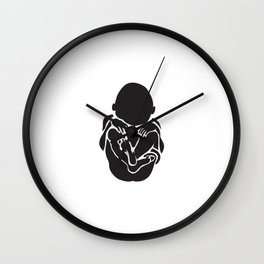 Born Again Narcissistic Wall Clock