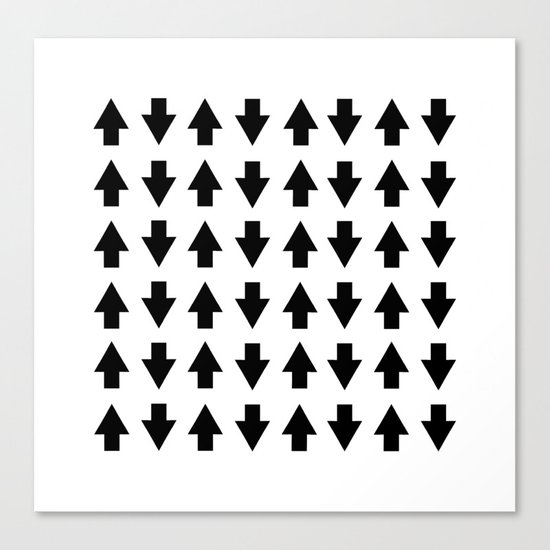 Arrows Black Canvas Print