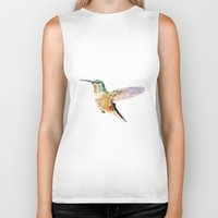 hummingbird Biker Tanks featuring Hummingbird by coconuttowers