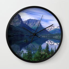 Montana Mountains Wall Clock