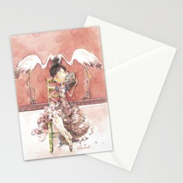 Among Flamingos Stationery Cards