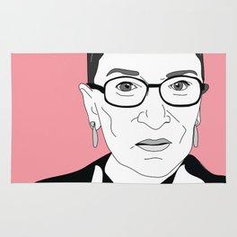 Ruth Bader Ginsburg, pink Rug