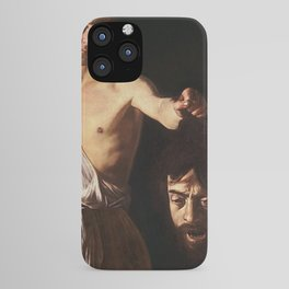 DAVID WITH THE HEAD OF GOLIATH - CARAVAGGIO  iPhone Case