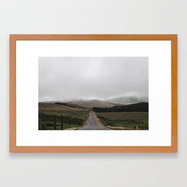 Road In The Mountains Framed Art Print
