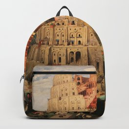 The Tower of Babel by Pieter Bruegel the Elder Backpack