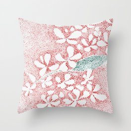 small drops Throw Pillow