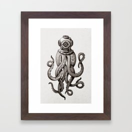 Octopus the Diver Framed Art Print