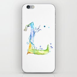 Letter L watercolor - Watercolor Monogram - Watercolor typography - Floral lettering iPhone Skin