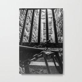 Behind the Bars Metal Print