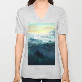Mountain Range Unisex V-Neck