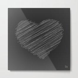 White Heart Metal Print