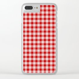 Menzies Tartan Clear iPhone Case