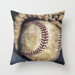 Baseball and Glove 1 Throw Pillow