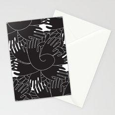BLACK HANDS Stationery Cards
