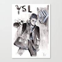 ysl Canvas Prints featuring YSL by Mariucalin