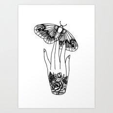 Moth Hand Art Print