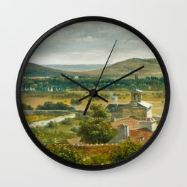 Théodore Rousseau Panoramic View of the Ile-de-France Wall Clock
