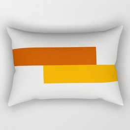 Yellow Meets Crimson Rectangular Pillow