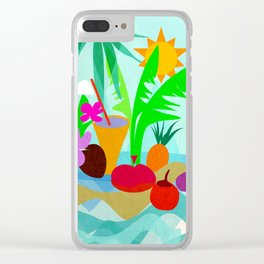 Tropical Vibes 2 Clear iPhone Case