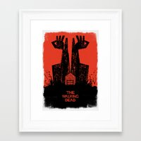 dead Framed Art Prints featuring The Walking Dead. by David