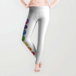 7 Chakra Symbols #01 Leggings