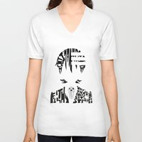 soul eater V-neck T-shirts featuring death the kid soul eater by Rebecca McGoran