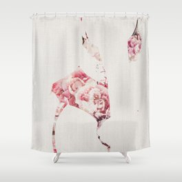 Flowery Woman Silhouette Shower Curtain