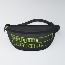 Green Loading Time Bar Fanny Pack