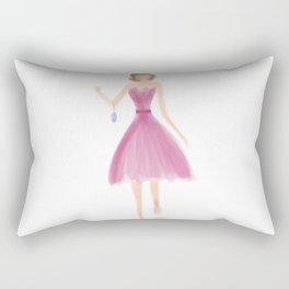 Pink Dress Rectangular Pillow