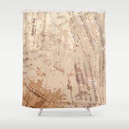 Partituras Collage Rock Shower Curtain