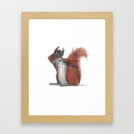 Squirrels' hat Framed Art Print