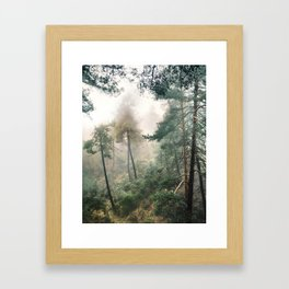 """""""Into the woods"""". Wandering into the fog Framed Art Print"""