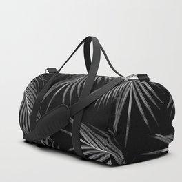 Silver Gray Black Palm Leaves Dream #1 #tropical #decor #art #society6 Duffle Bag