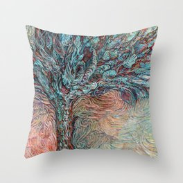 Midnight at the Wishing Tree Throw Pillow