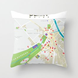 Derry Map (It, Insomnia...) Throw Pillow