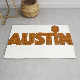 Retro Austin Texas Rug