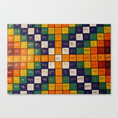 Tibetan Word Game Canvas Print