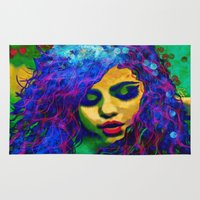 selena gomez Area & Throw Rugs featuring Selena (pop) by    Amy Anderson