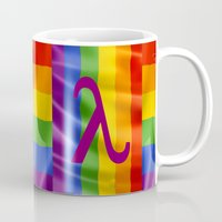lesbian Mugs featuring Sappho Lesbian Symbol by SwanniePhotoArt