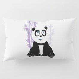 Panda Girl - Purple Pillow Sham