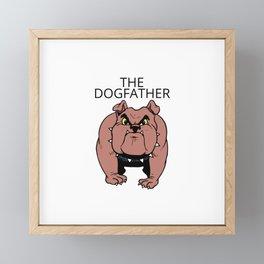 Bulldog Framed Mini Art Print