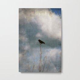 Crow tree Metal Print