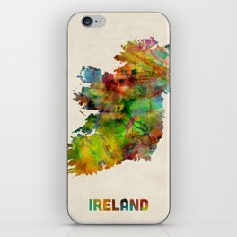 Ireland Eire Watercolor Map iPhone Skin