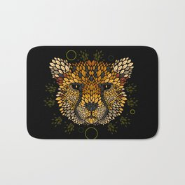 Cheetah Face Bath Mat