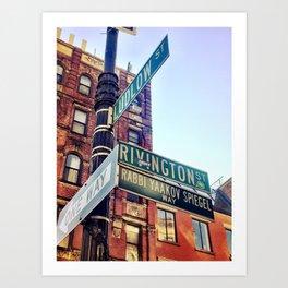 Ludlow and Rivington, Lower East Side Manhattan Art Print