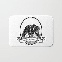 Glacier National Park Emblem Bath Mat