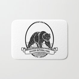 Glacier National Park Emblem Bath Mat